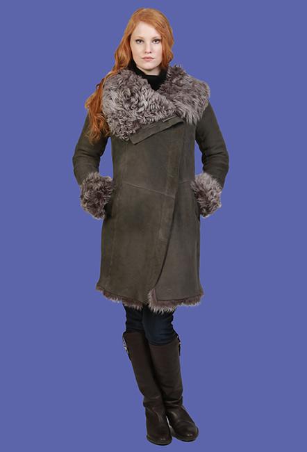 Shearling Coat | Lydia | D'Andre NY