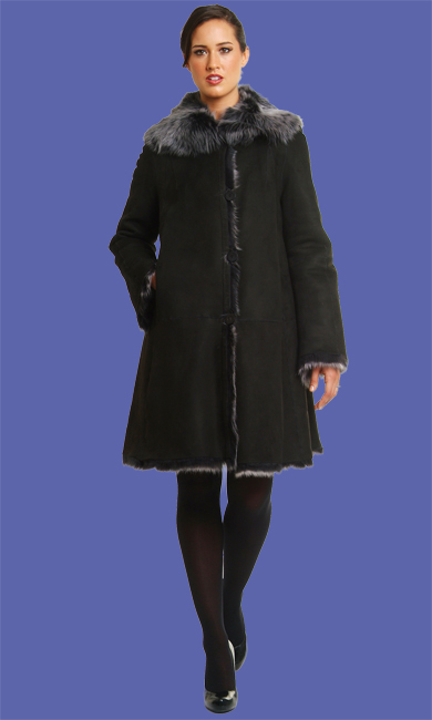 Women's Shearling Coat | Violette | D'Andre NY