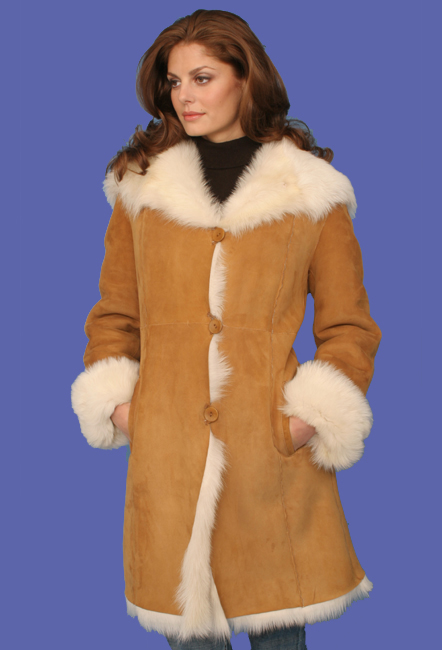 Women's Shearling Coat   Elenore   D'Andre NY