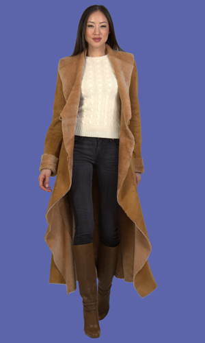 Women's Shearling Coat | Gabrielle | D'Andre NY