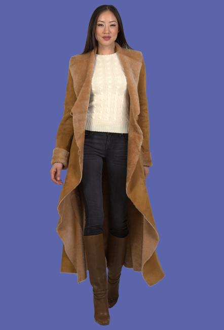 Women's Shearling Coat | Gabrielle | D'Andre NY