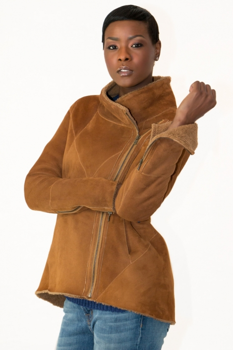 Women's Shearling Coat | Sheepskin Jacket | D'Andre NY